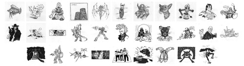 grid of all my Inktober posts'