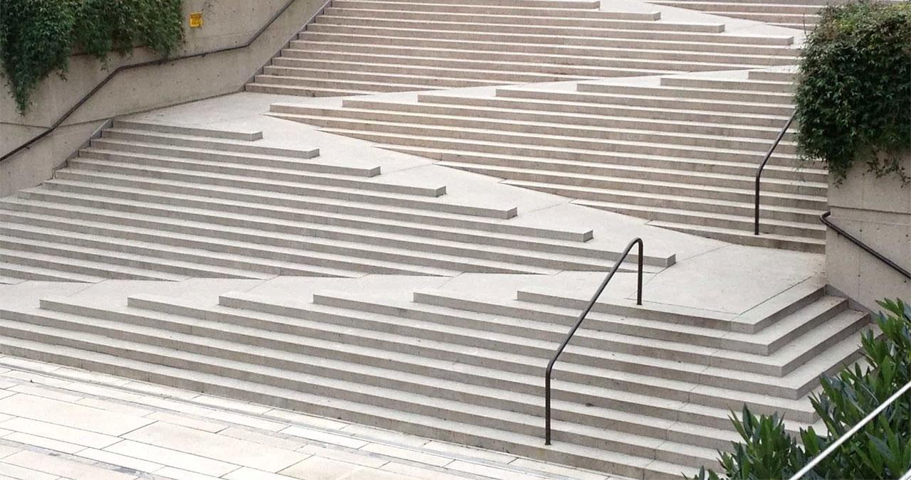 Robson Square, Vancouver stairs and ramp